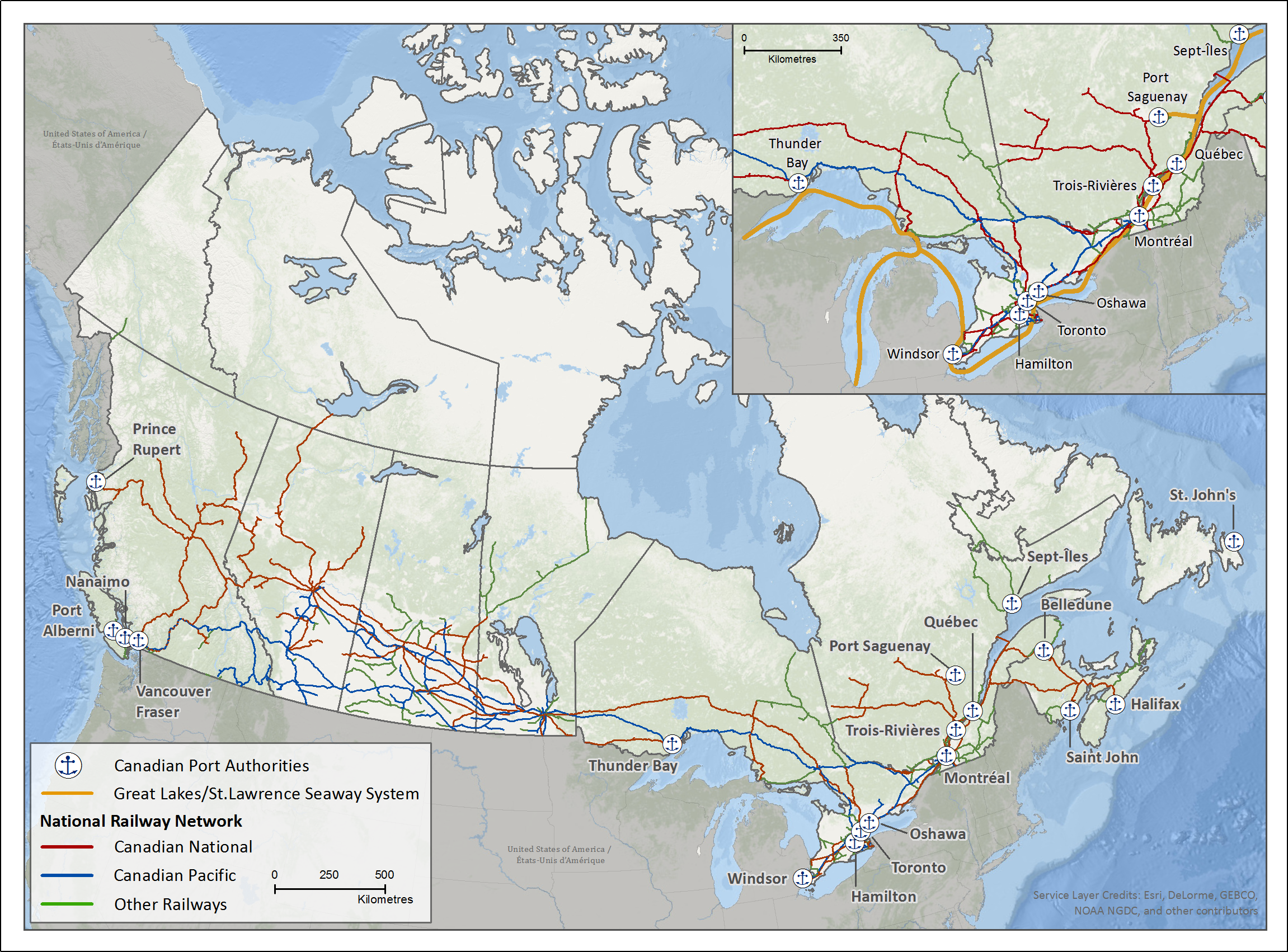 canadian pacific system map The Canadian Transportation System canadian pacific system map